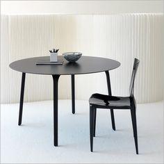 black milano table - slim black bevel tables with matte black finish