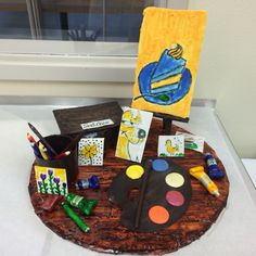 My final chocolate project!!!  Everything is chocolate except the floor which is painted fondant!!