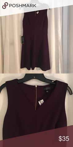 NEW-Sleeveless V neck Dress by The Limited Dark Plum V neck  Dress with slightly flared skirt. New with tags, never worn. Size Small The Limited Dresses