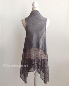 Reversible multi-use cardigan/vest: Grace and Lace - Lace Flip Cardigan, $45.90 (http://www.graceandlace.com/new-releases/lace-flip-cardigan/)