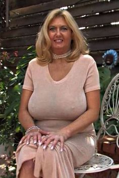Sexy mature slut with gigantic tits