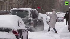 Record-breaking snowfall hits Moscow, halts traffic, and disrupts air tr... World Weather, Severe Weather, Air Travel, Capital City, February 11, Moscow Russia, Apocalypse, Thursday, Snow