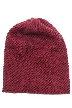Crosshatch Knit Beanie