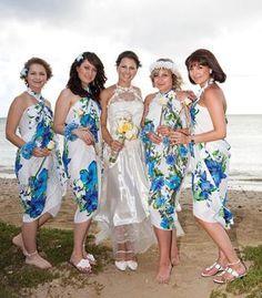 hula bridesmaid dresses - Google Search