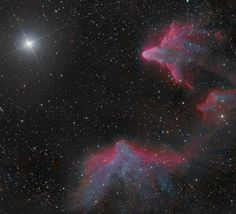 Two nebulas beam from the constellation Cassiopeia in this spectacular image captured by veteran stargazers. [Read the Full Story]