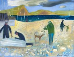 'Winter Beach' by Louise Waugh