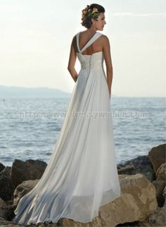 Beach wedding dress  If you are planning a beach wedding, make sure to buy a less expensive dress (& suit) to take pictures in the ocean in!! Absolutely beautiful!!