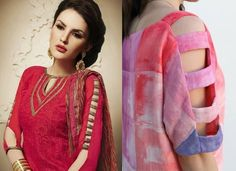 50 Latest sleeves design for kurti to try in 2019 Kurti Sleeves Design, Sleeves Designs For Dresses, Fancy Blouse Designs, Kurti Designs Party Wear, Blouse Neck Designs, Kurta Designs, Sleeve Designs, Indian Outfits, Dress Collection