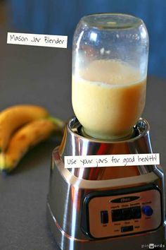 Mason jar blender... smoothies and healthy snacks are now easier than ever.