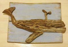 Driftwood Whale Art