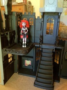 Monster High Custom Castle Mansion OOAK House 4 Spectra Toralei Venus Abbey Doll | eBay