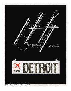 Fly me to Detroit DTW World Traveler Series Detroit by PineShore
