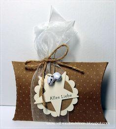 Sabines Basteleien: ~ Pillowboxen Diese Boxen habe ich vor einiger Zei...