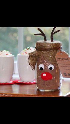 Hot Coco mix! Reindeer mason jar.