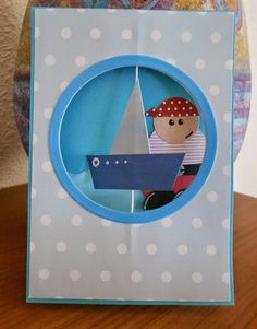Ship and pirate card for a boy