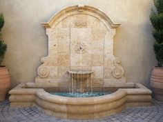 Water Fountain Outdoor Ideas The range of exterior fountains of soothing walls takes your breath away. Adding outdoor water features to your garden, patio or deck is one of the best ways to add… Outdoor Wall Fountains, Small Fountains, Indoor Water Fountains, Garden Fountains, Outdoor Walls, Outdoor Decor, Outdoor Ideas, Pool Fountain, Fountain Garden