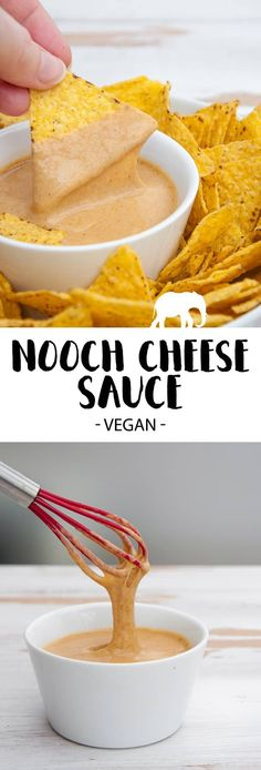 Easy and quick homemade vegan Cheese Sauce. Try this Nooch Cheese Sauce with Nutritional Yeast Flakes. Perfect for Lasagne or Mac & Cheese.