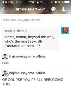 Yes isiyama were all reblogging this