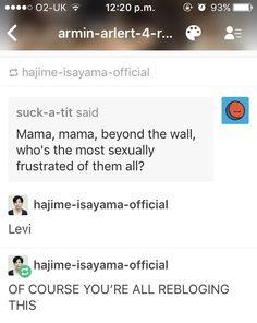 Oh Isayama, when he's not causing internal pain, he seems pretty damn cool.