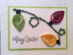 Quilled Christmas lights
