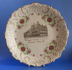 Warrington CWS Commemorative 1910 Jubilee Plate Co op Cooperative Society Christmas Plates, Earthenware, Art Nouveau, Decorative Plates, Pottery, Tableware, Advertising, Display, Cabinet