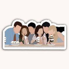 Friends Sticker Cast Laptop Sticker Decal Stickers Notebook Gift For Her Rachel Ross Monica Chandler Phoebe Milkshake New York Les Stickers, Red Bubble Stickers, Tumblr Stickers, Phone Stickers, Printable Stickers, Cute Stickers, The Office Stickers, Vasco Wallpaper, Sucubus Anime