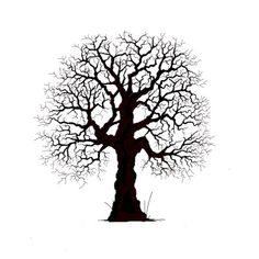 Ideas old oak tree tattoo for 2019 Oak Tree Silhouette, Fairy Silhouette, Silhouette Images, Oak Tree Tattoo, Black And White Tree, Tampons Transparents, Old Oak Tree, Lavinia Stamps, Resin Uses