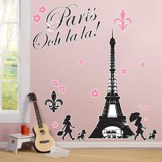 Paris Damask Giant Wall Decals from BirthdayExpress.com