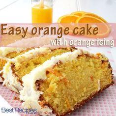 Easy Orange Cake with Orange Icing Recipe . A light, all-in-one orange cake.Orange Cake Recipe by Sunita Kohli . Orange Cake Recipe, Learn how to make Orange Food Cakes, Tea Cakes, Cupcake Cakes, Cupcakes, Cake Ingredients, Let Them Eat Cake, Yummy Cakes, No Bake Cake, Sweet Recipes