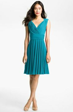 Suzi Chin for Maggy Boutique Pleated Jersey Fit & Flare Dress available at #Nordstrom