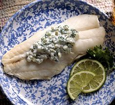 Orange Roughy with Tarragon Sauce.  Or use other fish fillet such as Tilapia.  Enhance the flavor of fish with a refreshing mayonnaise-yogurt sauce.