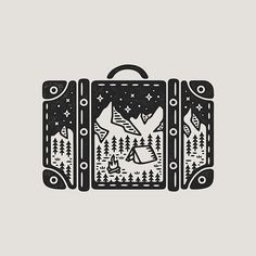 New travel drawing suitcases ideas Doodle Tattoo, Doodle Art, Tattoo Drawings, Art Drawings, Graphic Design Illustration, Illustration Art, Tattoo Style, Dibujos Cute, Travel Drawing