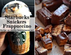 Caramel and Nut Chocolate Bar Frappucino