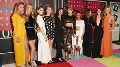 Taylor Swift brought members of her 'Bad Blood' squad, including Selena Gomez, Cara Delevingne and Gigi Hadid to the MTV VMAs. Photos here. Mtv Video Music Award, Music Awards, Taylor Swift Vma, Taylor Swift Squad, Lily Aldridge, Hailee Steinfeld, Mariska Hargitay, Cara Delevingne, Gigi Hadid