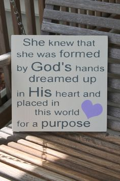Wood Sign Dreamed Up in His Heart Christian by PreciousMiracles