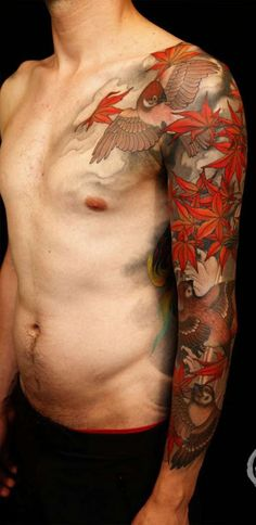 Love the colors and movement of this sleeve, not sure how it would translate to a back piece.