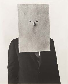 Saul Steinberg. Nose Mask. silver gelatin print, 15½ x 15¼. Photo by Irving Penn. New York, 1966 (via La Pequeña ciudad de P.: Saul Steinberg o cómo ilustrar la ironía)