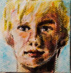 Boy acrylic painting