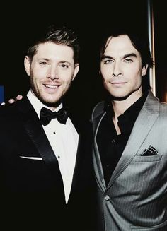 Two of my Favorite People & Actors <3 Jensen Ackles & Ian Somerhalder <3 <3 MY DREAM IS TO MEET THEM BOTH <3
