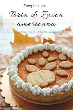 Pumkin Pie, Pumpkin, American Cake, Holiday Recipes, Delicious Desserts, Food And Drink, Sweets, Baking, Biscotti