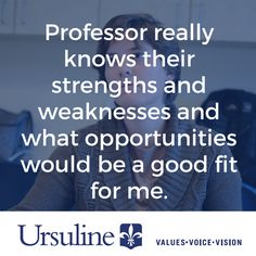Knowing my strengths & weaknesses helped me succeed at #UrsulineCollege - http://lrnlft.so/1gA1qxU