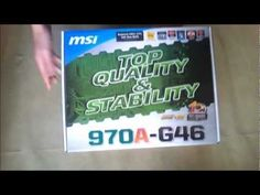 ▶ MSI 970A-G46 AMD Motherboard Unboxing and Review - YouTube just a double check on my motherboard