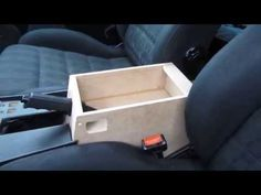 How to build a car center console armrest ✔ Part 2 I build a new car console for my car vw golf 2 with mdf wood the top can later open inside is a storage bo. Interior Doors For Sale, Custom Car Interior, Car Interior Design, Truck Interior, Motor Kombi, Vw Pointer, Custom Center Console, E36 Coupe, Car Console