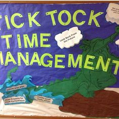 Time Management Bulletin Board I created a couple years ago for my Peter Pan theme #RA reslife