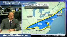 Jan 19, 2016; 1:45 PM ET Bernie Rayno has the latest on the threat for a late week snowstorm across the Mid-Atlantic and Northeast.