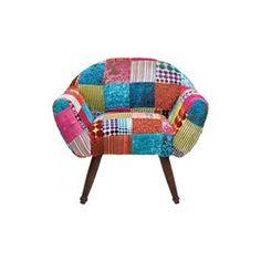 fauteuil patchwork velvet colore kare design - Fauteuil Colore