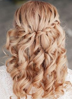 Waterfall Braid Wedding Hairstyle