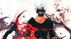 Tokyo Ghoul Ken Kaneki Anime Image Mask White Hair 1366×768