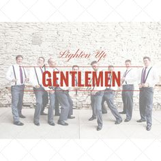 Lighten Up Gentlemen! We'll show you how to wear something other than black on your wedding day!