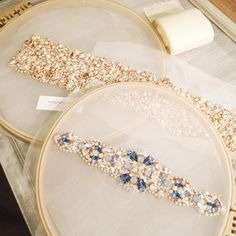 "122 Likes, 8 Comments - H E L E N A  N O E L L E (@helenanoellecouture) on Instagram: ""Ready for final touches....xoxo #helenanoelle #bride #bridalheadpiece #bridalsash #bridalbelts…"""